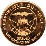 "10 francs (President Modibo Keita; ""1967"") – avers"