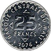 25 francs – revers