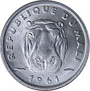 5 francs maliens – avers