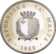 2 Lires (indépendance) – avers