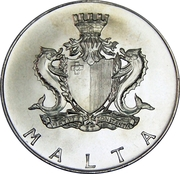4 Liri (Porte de Cottonera) – avers