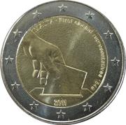 2 euros Élection des premiers représentants -  avers