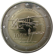 2 euros Premier vol depuis Malte -  avers