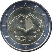 2 euros Solidarité par l'amour -  avers