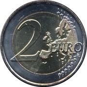 2 euros Solidarité par l'amour -  revers