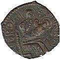 Copper Trifollaro of Roger I (MARIA MATER DNI) – avers