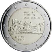2 euros Temple de Mnajdra -  avers
