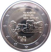 2 euros Temple de Ta' Ħaġrat -  avers