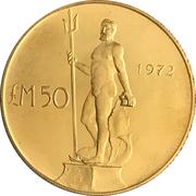 50 Liri (Neptune) – revers