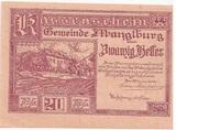 20 Heller (Manglburg) – avers
