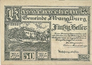 50 Heller 1920 Manglburg – avers
