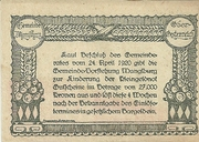 50 Heller 1920 Manglburg – revers