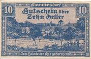 10 Heller (Mannersdorf) – avers