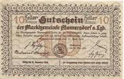 10 Heller (Mannersdorf) – revers