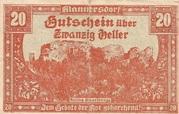 20 Heller (Mannersdorf) – avers