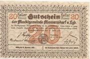 20 Heller (Mannersdorf) – revers