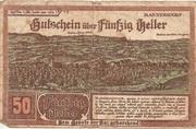 50 Heller (Mannersdorf) – avers