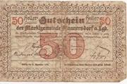50 Heller (Mannersdorf) – revers