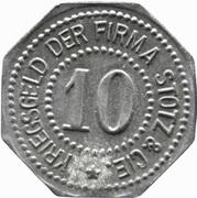 10 pfennig - Mannheim (Stotz & Cie) -  avers