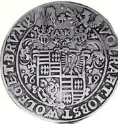 1 thaler Volrat VI., Jobst II., Wolfgang III. et Bruno III. – avers
