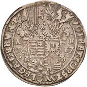 ¼ Thaler - Volrat VI., Jobst II., Wolfgang III. and Bruno – avers