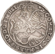 1 Thaler - Volrat VI., Jobst II., Wolgang III. und Bruno III. – revers