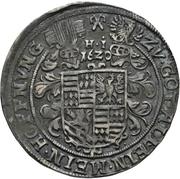¼ Thaler - Volrat VI., Wolfgang III., Johann Georg II. (Spruchtaler) – revers