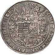 1 Thaler - Volrat VI. und Jobst II. – revers