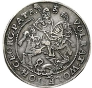 1 Thaler - Volrat VI., Wolfgang III. und Johann Georg – avers