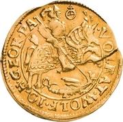1 Goldgulden - Volrat VI., Wolfgang III. und Johann Georg II. – avers