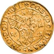 1 Goldgulden - Volrat VI., Wolfgang III. und Johann Georg II. – revers