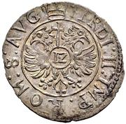 12 Kreuzer - Volrat VI., Philipp Ernst und Albrecht Wolff (Kipper) – revers