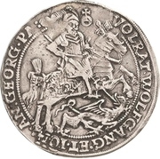 ½ Thaler - Volrat VI., Wolfgang III. and Johann Georg – avers