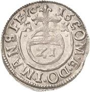 1/21 Thaler - Volrat VI., Jobst II. and Wolfgang III. – revers