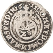 1 Groschen - Bruno II., Wilhelm I., Johann Georg IV., Volrat VI. and Jobst II. – revers