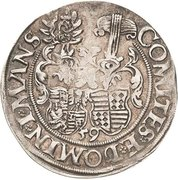 ¼ Thaler - Johann Georg I., Peter Ernst I. and Christoph II. – revers