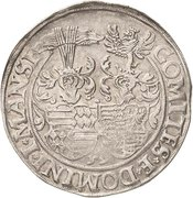 1 Thaler - Johann Georg I., Peter Ernst I. and Christoph II. – revers