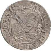 ¼ Thaler - Johann Georg I., Christoph II. and Johann Ernst – avers