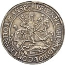 1 Thaler - Peter Ernst I., Christoph II. and Johann Hoyer III. – avers