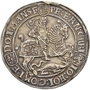 1 Thaler - Peter Ernst I., Christoph II. and Johann Hoyer III. – avers