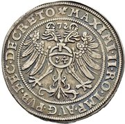 1 Thaler - Peter Ernst I., Christoph II. and Johann Hoyer III. – revers