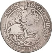1 Thaler - Johann Georg I., Christoph II. and Johann Ernst – avers