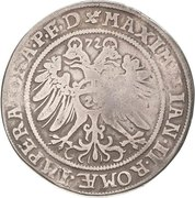 1 Thaler - Johann Georg I., Christoph II. and Johann Ernst – revers