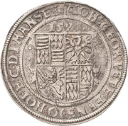 ½ Thaler - Johann Georg I., Peter Ernst I. and Johann Hoyer III. – revers