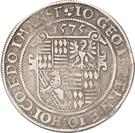 1 Thaler - Johann Georg I., Peter Ernst I. and Johann Hoyer III. – avers