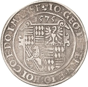 1 Thaler - Johann Georg I., Peter Ernst I. and Johann Hoyer III. – avers