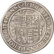 ½ Thaler - Johann Georg I., Peter Ernst I. and Johann Hoyer III. – avers