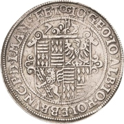 1 Thaler - Johann Georg I., Johan Albrecht, Johann Hoyer III. and Bruno II. – avers