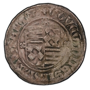 1 groschen Gunther IV, Gebhart VI, Volrat II – avers