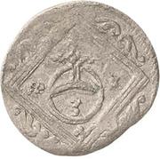 1 Dreier - Johann Georg II. – revers